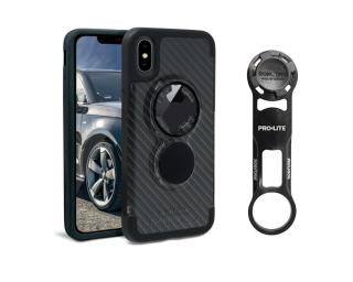 Rokform Bike Mount Kit iPhone X Crystal Case Carbon